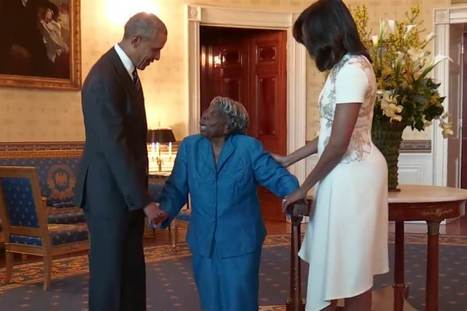 106-Year-Old Meets the Obamas, Dances With Joy | Black History Month Resources | Scoop.it