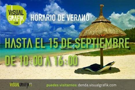 VisualGrafik on Twitter: Se acabaron las vacaciones. Volvemos con el Horario de Verano, de 10:00 a 16:00 hasta el 15 de Septiembre. http://t.co/BibT2BQE1K | VisualGrafik | Scoop.it