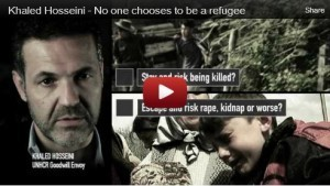 "Afghan-American Author Khaled Hosseini: ""No one chooses to be a refugee"" 