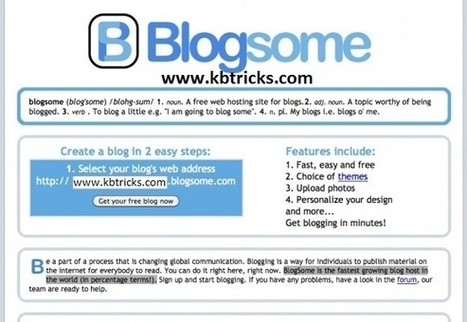 Top 10 Free and Best Blog Sites to Create Blogs for Free | KB Tricks | KB Tricks - Technology Blog | Scoop.it
