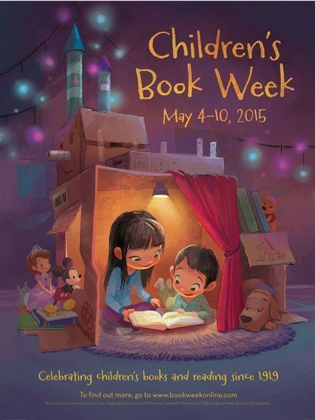 Poster revealed for Children's Book Week - USA TODAY | Book Week 2015 Books light up our world | Scoop.it