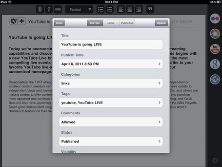 Blogsy: A Better Blogging App for iPad | teaching with technology | Scoop.it