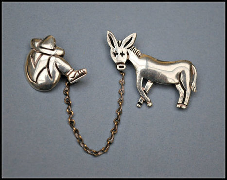 Vintage Maricela Tasco Mexico Sterling  Siesta and Donkey Chatelaine Brooch | serendipity treasures | Scoop.it