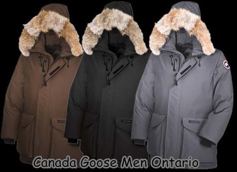 canada goose jackets uk ontario parka brown discount sale