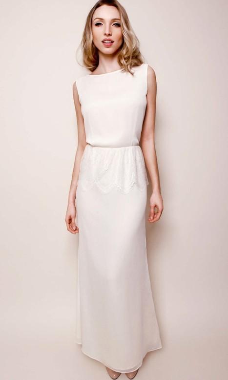 Robe longue soie et dentelle | Tendances du moment | Déco & mariage | Scoop.it