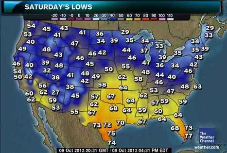 Thursday October11, 2012 - Northeast Braces for Cold Air - weather.com   Weather info   Scoop.it