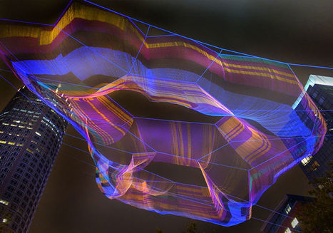 MA: Janet Echelman Builds Ethereal Aerial Sculpture High Above Boston | HiFructose.com | Digital Media Literacy + Cyber Arts + Performance Centers Connected to Fiber Networks | Scoop.it