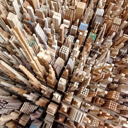 Spectacular Wood Sculptures: City Series by McNabb & Co - Design Milk | 3D Sculpture | Scoop.it