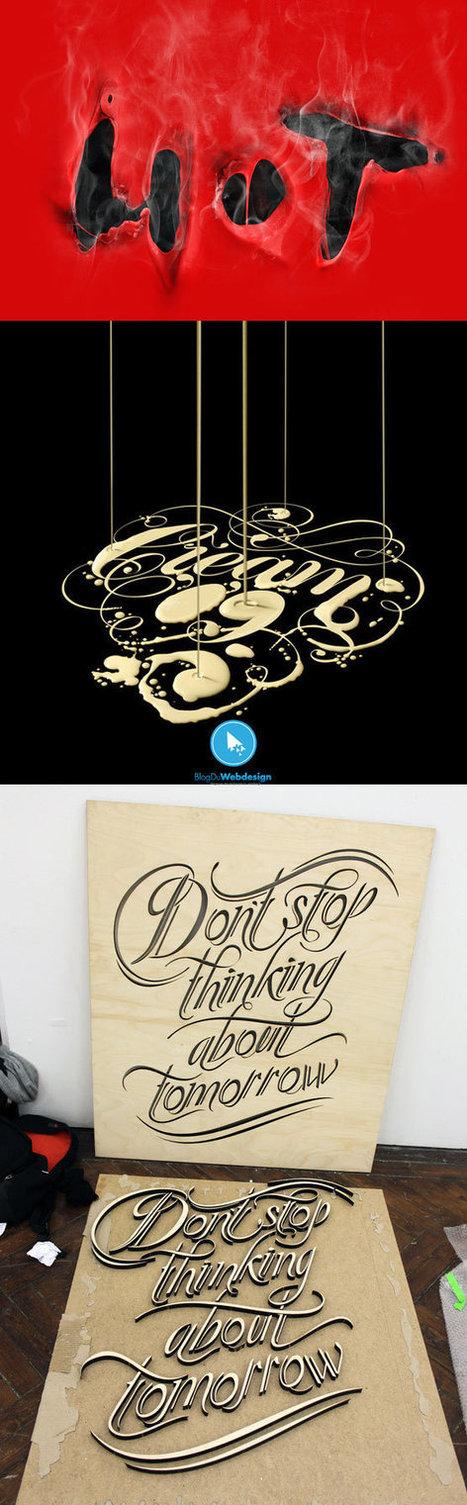 100 Magnifiques visuels de typographie - typographie | Communication  : Stratégie et supports | Scoop.it