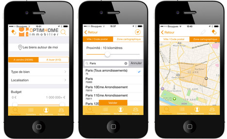 Nouvelle application OptimHome pour iPhone | Recrut'Immo | Scoop.it