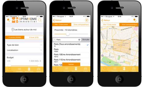 Nouvelle application OptimHome pour iPhone | TOUT SUR L'IMMOBILIER | Scoop.it