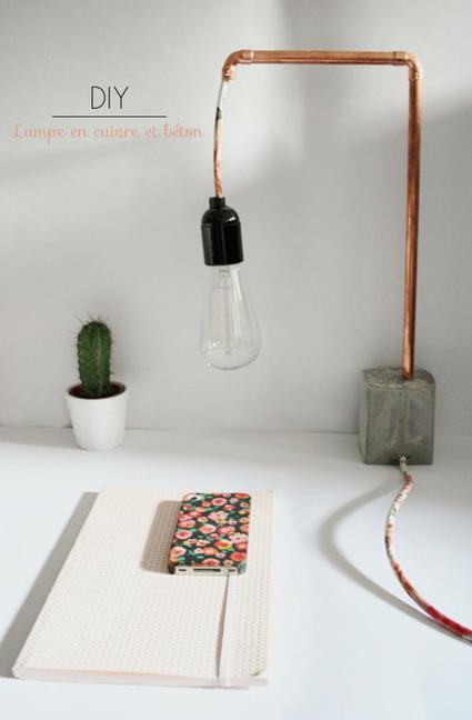 //DIYourself// Une lampe en cuivre et béton | Récup Création | Scoop.it