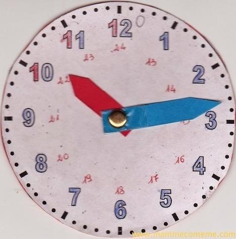 Mamme come me: Insegnare a leggere l'orologio ai bambini   Confronto sulla scuola   Scoop.it