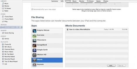 Saving iPad Files Through iTunes (video) | Educational Technology and New Pedagogies | Scoop.it