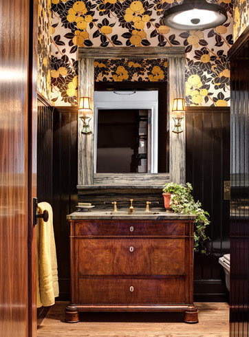 Should We Replace the Patterned Wallpaper in Our Powder Room? | Wallpaper | Scoop.it