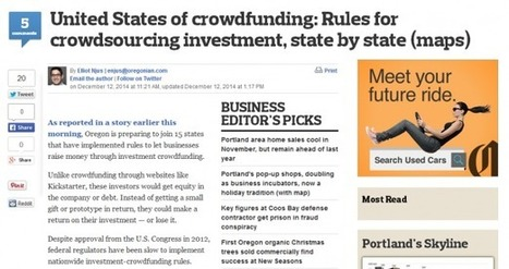 United States of crowdfunding: Rules for crowdsourcing investment, state by state (maps) | Crowdfunding | Scoop.it