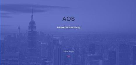 Bibliothèque JavaScript d'animation avec le défilement - aos | Veille perso | Scoop.it
