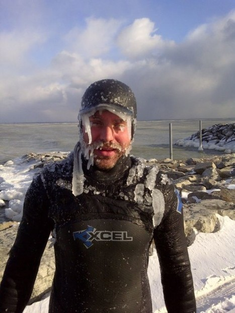 Surfing the Freezing Waters of Lake Superior in the Dead of Winter | Strange days indeed... | Scoop.it