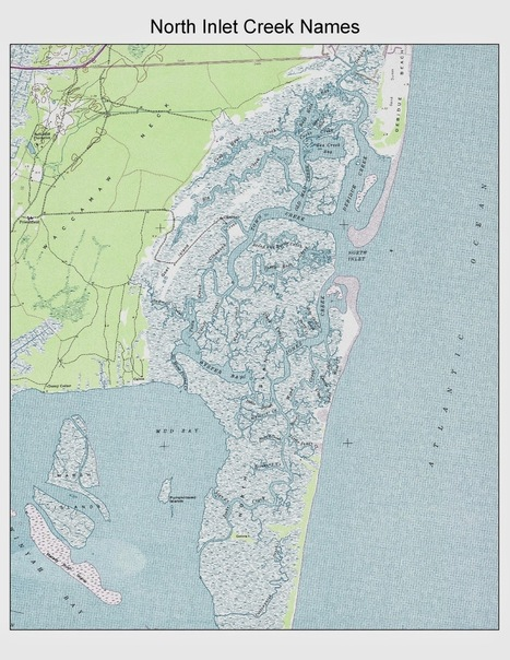 DeBordieu Blog: North Inlet Map, Creek Names, Fishing and More   Lowcountry Lifestyle   Scoop.it