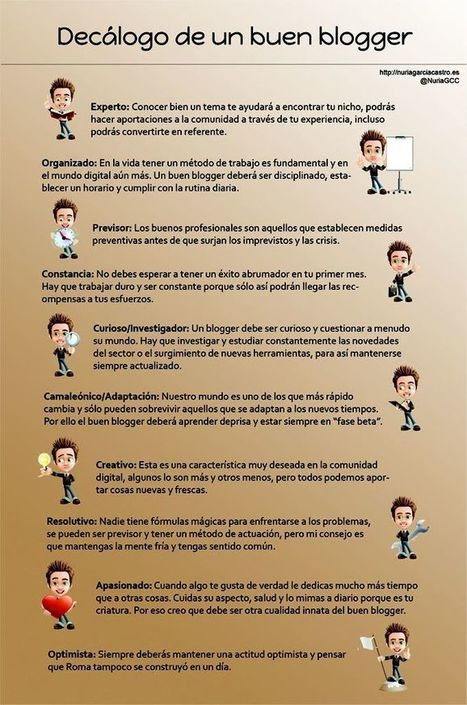 Infografía: Decálogo de un buen blogger | El Content Curator Semanal | Scoop.it