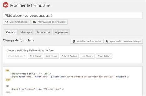 Créer une newsletter sur WordPress avec MailChimp   Freewares   Scoop.it