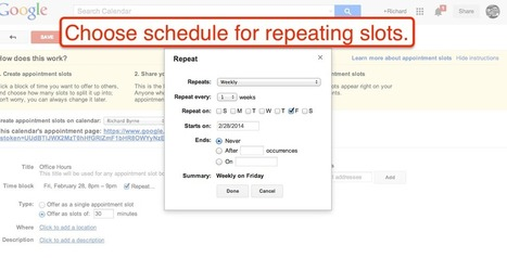 Free Technology for Teachers: How to Create Appointment Slots in Google Apps Calendars | Edtech PK-12 | Scoop.it
