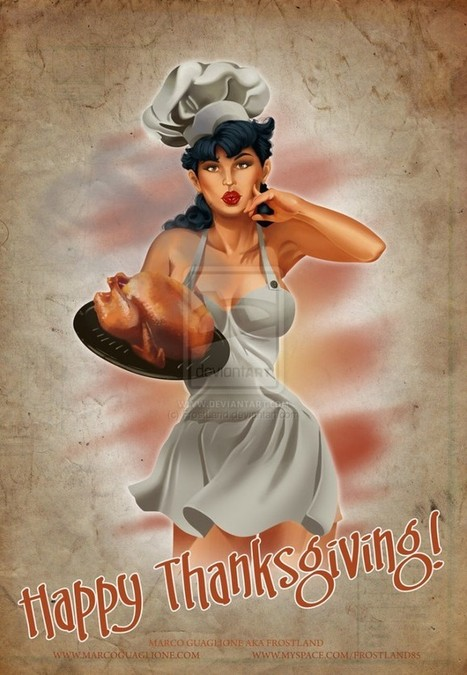 40+ Awesomely Creative Thanksgiving Design Inspirations (Illustrations, Wallpapers, Artwork, Food & More!) | Webdesign Glance | Scoop.it