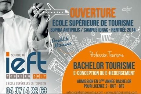 Tourisme: l'IEFT a ouvert un 3e campus à Nice Sophia Antipolis - Invest in Côte d'Azur   Innovation, Eco-vallée Nice, Sophia-Antipolis   Scoop.it