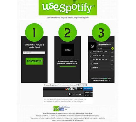 Convertir ses playlists Deezer en playlists Spotify avec UseSpotify | Time to Learn | Scoop.it