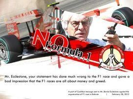 Ecclestone and his amazing greed will taint F1 racing forever after Bloody Bahrain! | Human Rights and the Will to be free | Scoop.it