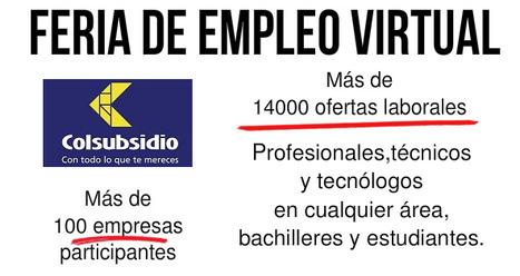FERIA DE EMPLEO VIRTUAL COLSUBSIDIO: MAS DE 14 MIL VACANTES | recomendados en Colombia | Scoop.it