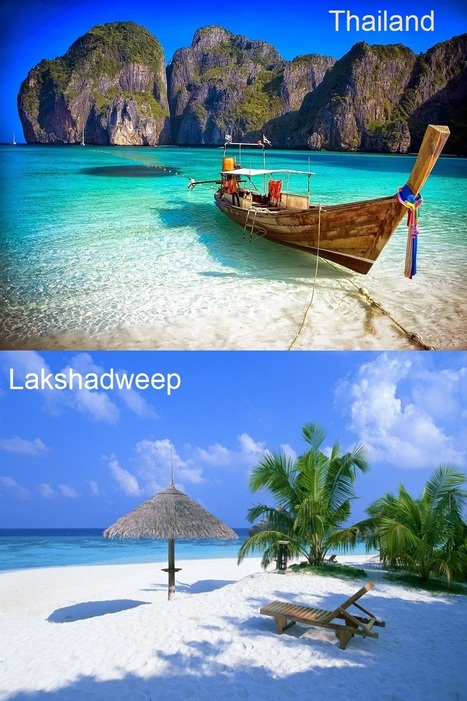 Bright blue water in the ocean, White Sands, Greener on the beach and Around the upland mountain | Travel - Places, Destinations, Vacations | Scoop.it