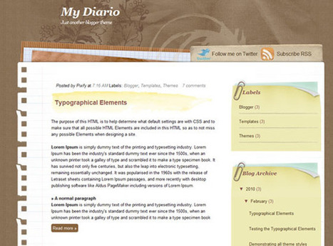 My Diario | Ngoding | Blogger themes | Scoop.it