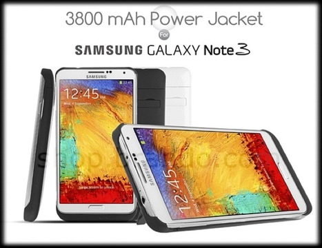 Brando Releases Power Jacket for Galaxy Note 3 with 3800mAh Battery | Technology News | Scoop.it