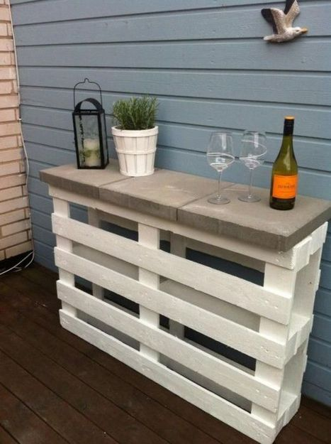 Easy diy project pallet outdoor bar 1001 pa for Simple outdoor bar