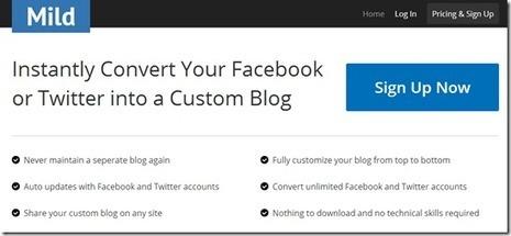 Convert your Facebook or Twitter Accounts into a Custom Blog | Uso inteligente de las herramientas TIC | Scoop.it