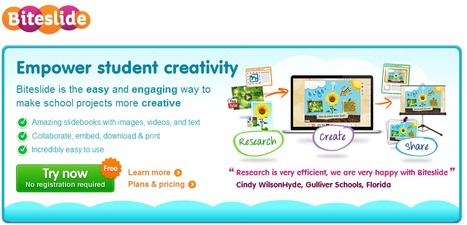 Digital slidebooks for student creativity, self-expression, and imagination - Biteslide | Cyberteachers | Scoop.it