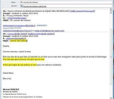 L'incroyable faux courrier des lecteurs fabriqué... par la mairie de Cholet | Les médias face à leur destin | Scoop.it