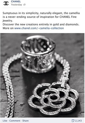 Chanel promotes fine-jewelry collection with multi-layered Facebook campaign - Luxury Daily - Advertising | Luxury | Scoop.it