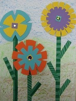 """3D"" Flower Collage   TeachKidsArt   Art Lessons 2   Scoop.it"
