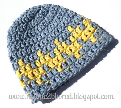 No time to be bored: Crochet Chevron Baby Hat | Crochet, Knit, Sew, Crafts | Scoop.it