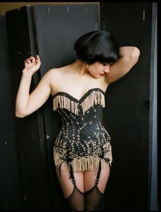 Gorgeous Corsets: Gold On Black & Fringed On The Bottom | Sex~Kitten.net | Lingerie Love | Scoop.it