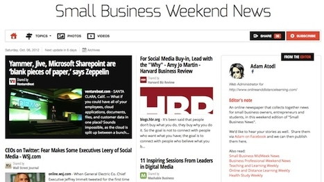 Ocrt 6 - Small Business Weekend News | Business Futures | Scoop.it