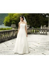 A Line Strapless Brush Train Lace Ivory Wedding Dress H1ly0041 for $890 | Landybridal 2014 wedding dress | Scoop.it