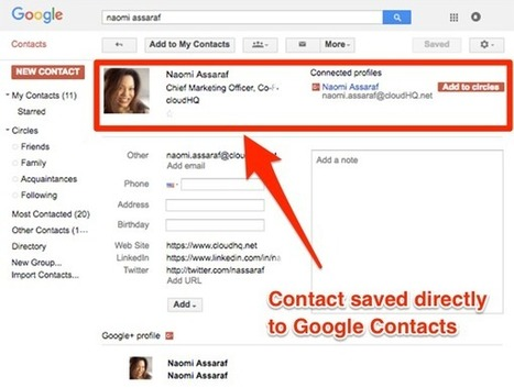 1 Click: Save LinkedIn Leads to Google Contacts | cloud computing | Scoop.it