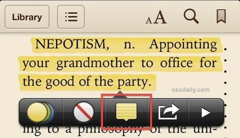Highlight Text and Take Notes in iBooks | Elementary Education Digital Learning | Scoop.it