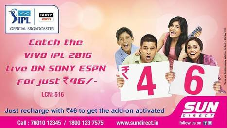 Watch 2016 IPL in Sony ESPN and Sony ESPN HD | Dish TV Service Providers in India | Scoop.it