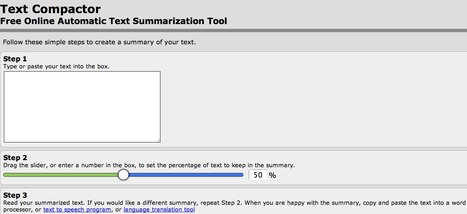 Text Compactor: Free Online Automatic Text Summarization Tool | Online Creative Social Mobile Writing, Storytelling | Scoop.it