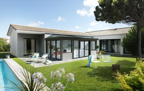 C - ALIZÉ, nouveau design pour une véranda bois aux lignes épurées, signée VIE & VERANDA | Décoration | Scoop.it