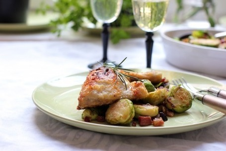 Rosemary Scented Chicken with Brussel Sprouts | À Catanada na Cozinha Magazine | Scoop.it